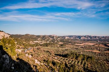 Panorama sur les Alpilles du haut des Baux de Provence