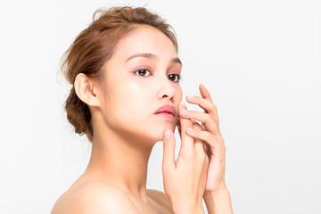 beauty girl of half latina and half asian, beauty and cosmetics image