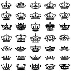 Crown collection - vector illustration