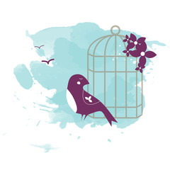 Bird with a Cage