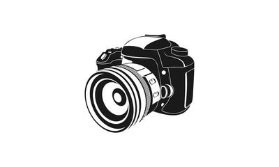 Vector flat style illustration of camera