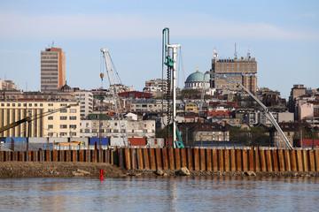 Belgrade waterfront construction site