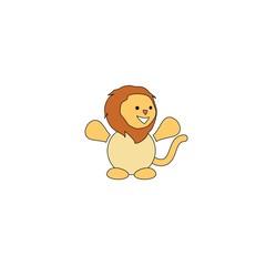 Cartoon style lion mascot