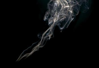 Aluminium Prints Smoke White smoke collection on black background