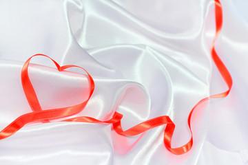 Red ribbon heart