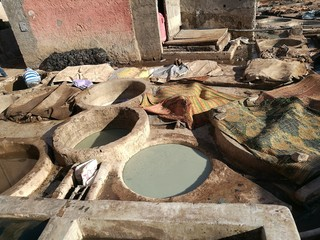 tannery in marrakesh