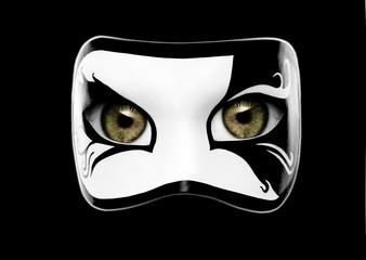 Schwarz-Weiße Maske mit Augen