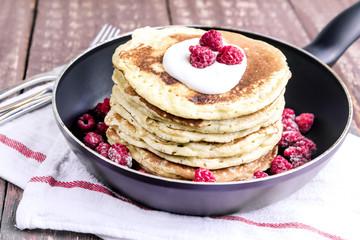 Pancakes in a fryi