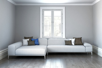 Modern Scandinavian style living room sofa
