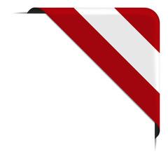 Eckbanner - öterreichische Flagge