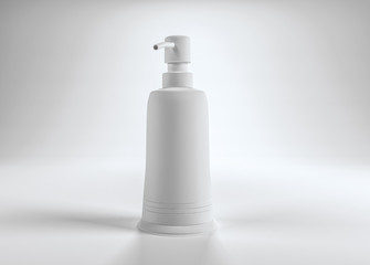 Blank generic pump top lotion container