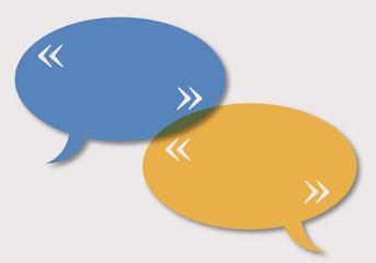 bulles - dialogue - guillemets - présentation - fond