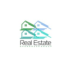 Real Estate vector logo design template. House abstract concept icon.