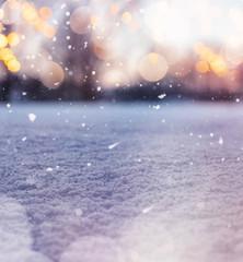 Winterlicher Schnee Hintergrund mit Textfreiraum
