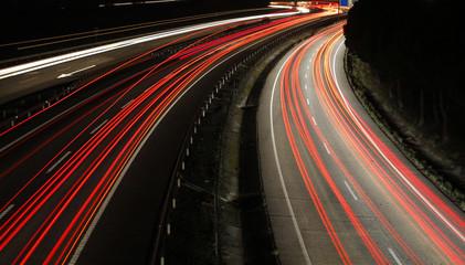 Speed cars at night