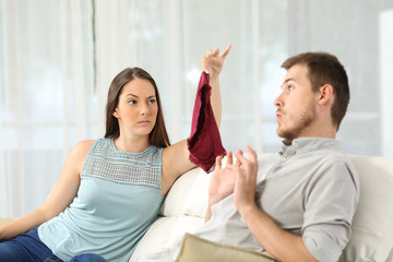 Wife discovers that her husband is cheating