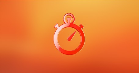 Stop Watch Red 3d Icon