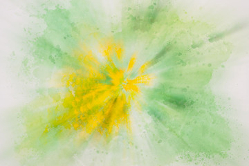 Abstract background painting with blur. Texture of watercolor paper