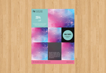 Grid Style Photography Flyer Layout 4