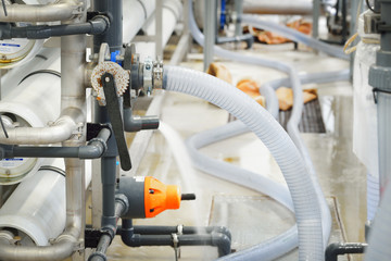 Large industrial water treatment and boiler room. Plastic and me