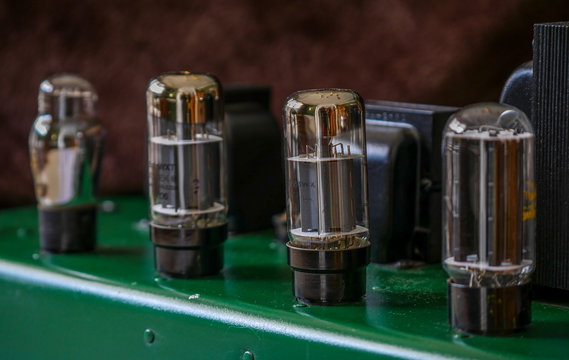 Vintage Audio Amp Tubes on a Classic Amplifier