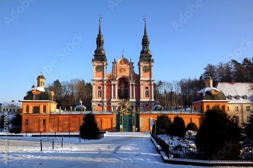święta Lipka Barokowe Sanktuarium Maryjne Mazury Polska Stock