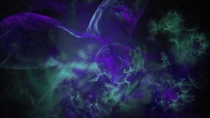 Fantastischer Rauch - eisblau - violett