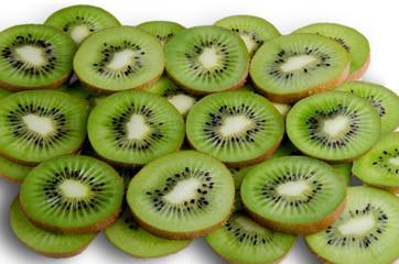 green slices of kiwi