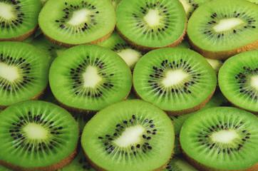 kiwi green slices background