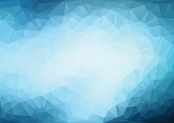 Polygonal light blue background