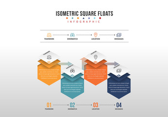 Floating Isometric Square Infographic