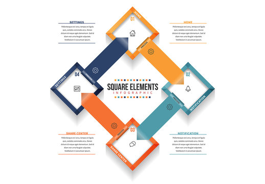 Linked Square Infographic