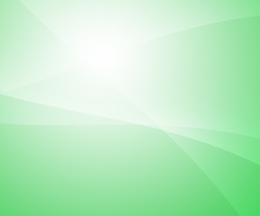 Abstract background with curves on green