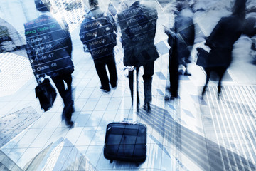 traveling business people conceptual picture