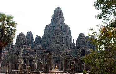 Cambodia Angkor Wat  Bayun Face temple stone ruin bhuddist religion
