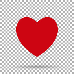 Heart red Icon on background isolate, stylish vector illustration for web design EPS10