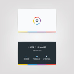 O Simple Alphabet Business Card