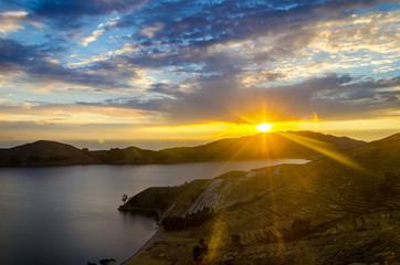 Sunset over Lake Titaca