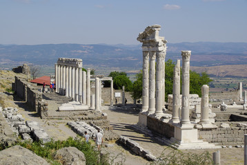 The ruins of Pergamon, birthplace of Hippocrates.