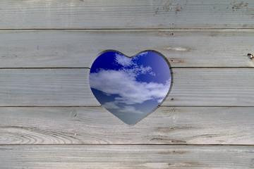 view through heart