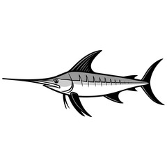 Swordfish Trophy Illustration