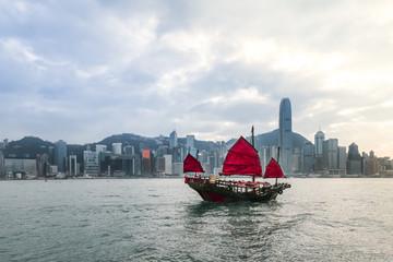 Poster White Victoria harbor : Hong Kong