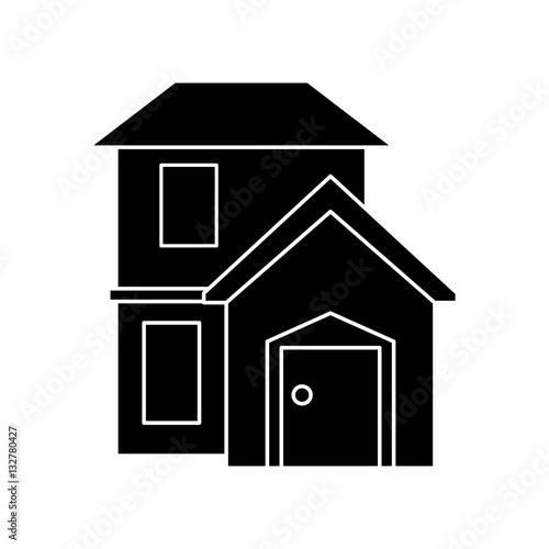 Silhouette house home residential style modern vector illustration eps