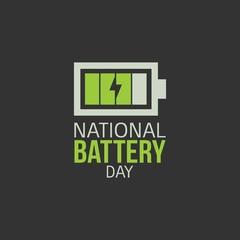 National Battery Day Vector Illustration.
