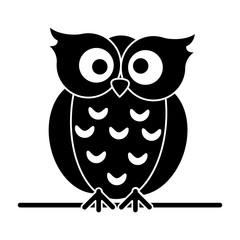 silhouette owl loving vector illustration eps 10