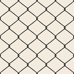 Wire fence. Seamless Pattern