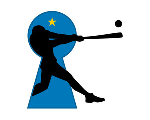 baseball keyhole icon
