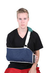 Young Adult with a broken hand