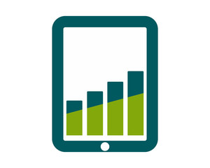 tablet charts icon