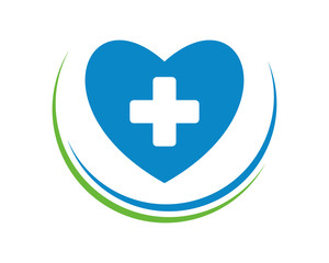 blue heart medical symbol